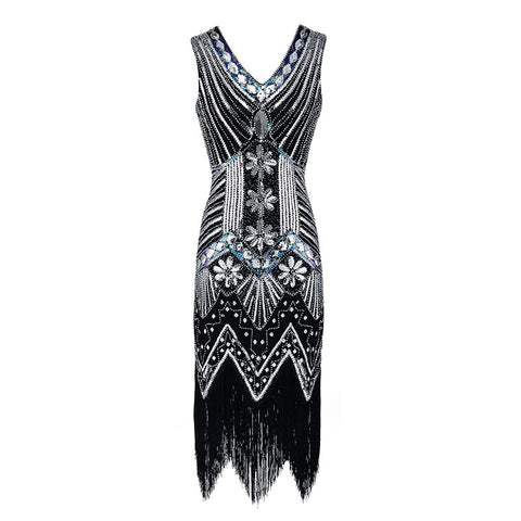 Robe Charleston Argent  - Tracy