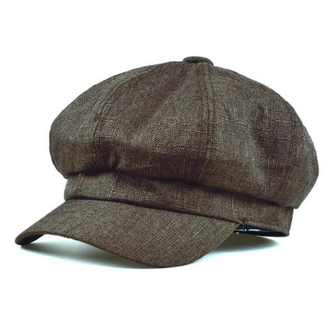 Casquette Gavroche Marron Scottish Vintage