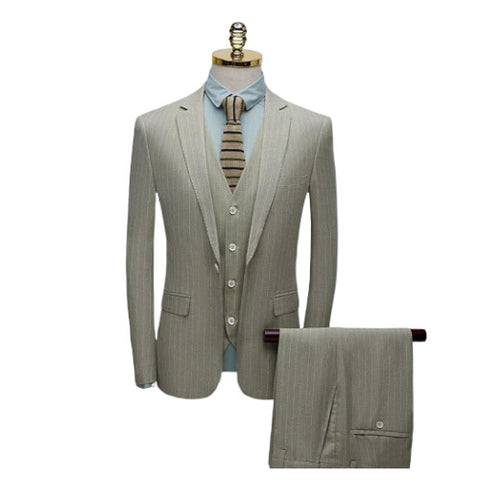 Costume 3 Pieces Beige Homme  - York Vintage