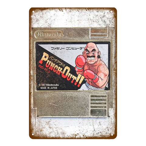 "Plaque Métal Vintage Nintendo - ""Punch Out !!"""