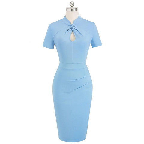 Robe Crayon Bleue Ciel - Business | Vintage Lifestyle