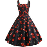 Robe Pin Up Rockabilly Noire à Cerises - Lily | Vintage Lifestyle