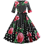Robe Pin Up Rockabilly Noire à Pois Blancs - Allie | Vintage Lifestyle