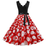 Robe Pin Up Rockabilly Rouge à Pois Blancs - Bethany | Vintage Lifestyle