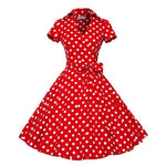 Robe Pin Up Rockabilly Rouge à Pois Blancs - Vanity | Vintage Lifestyle