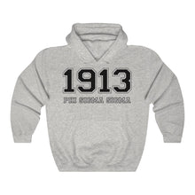 Load image into Gallery viewer, Phi Sigma Sigma Founding Year Hoodie (Ash Grey)