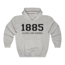Load image into Gallery viewer, Alpha Chi Omega Founding Year Hoodie (Ash Grey)