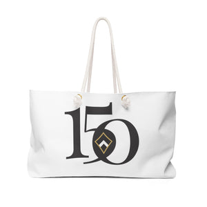 Kappa Alpha Theta Limited Edition 150th Anniversary Weekender Tote Bag (White)