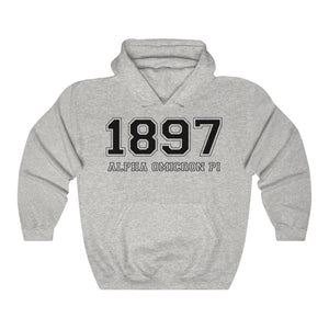 Alpha Omicron Pi Founding Year Hoodie (Grey)