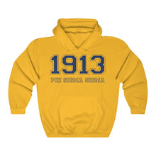 Load image into Gallery viewer, Phi Sigma Sigma Founding Year Hoodie (Gold)