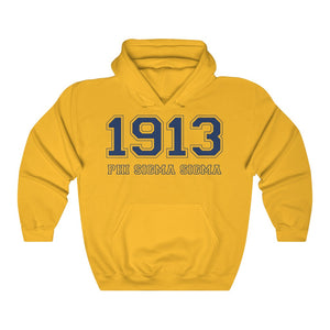 Phi Sigma Sigma Founding Year Hoodie (Gold)