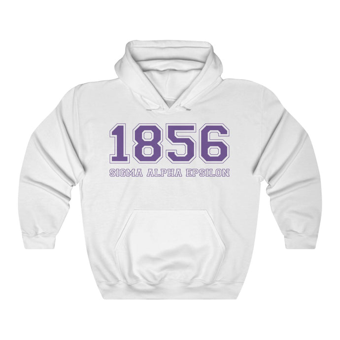 Sigma Alpha Epsilon Founding Year Hoodie (White)