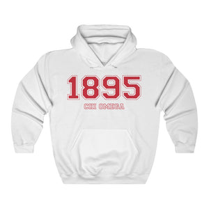 Chi Omega Founding Year Hoodie (White)