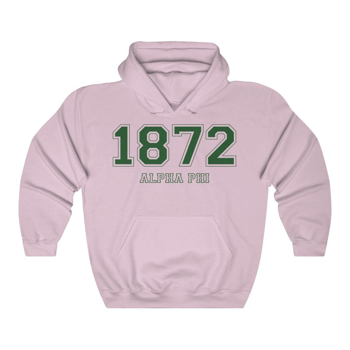 Alpha Phi Founding Year Hoodie (Light Pink)