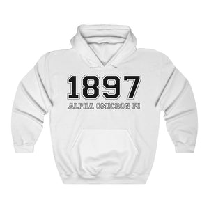 Alpha Omicron Pi Founding Year Hoodie (White)