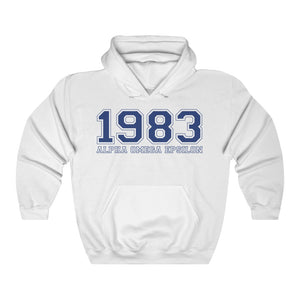 Alpha Omega Epsilon Founding Year Hoodie (White)