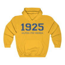 Load image into Gallery viewer, Alpha Phi Omega Founding Year Hoodie (Gold)