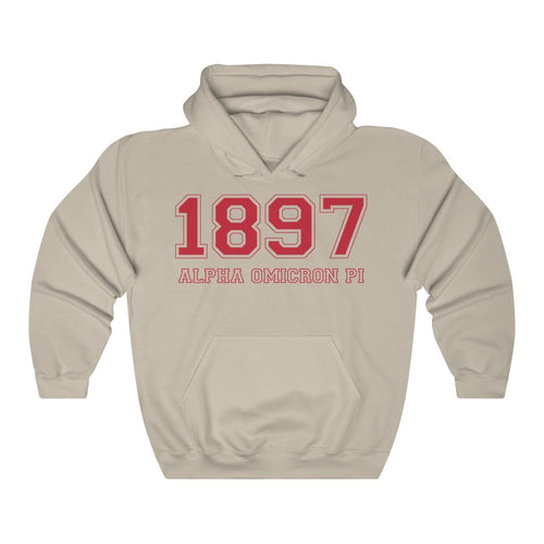 Alpha Omicron Pi Founding Year Hoodie