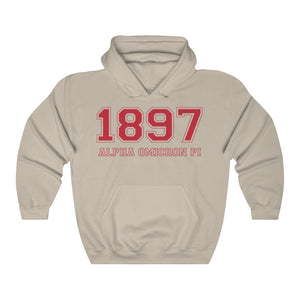 Alpha Omicron Pi Founding Year Hoodie (Sand)