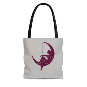 "Lambda Theta Alpha ""Lady on the Moon"" Tote Bag (Grey)"