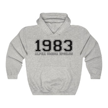Load image into Gallery viewer, Alpha Omega Epsilon Founding Year Hoodie (Ash Grey)