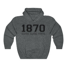 Load image into Gallery viewer, Kappa Alpha Theta Founding Year Hoodie (Dark Heather)