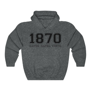 Kappa Alpha Theta Founding Year Hoodie (Dark Heather)