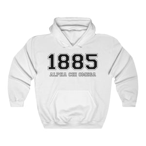 Alpha Chi Omega Founding Year Hoodie (White)