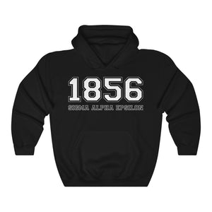 Sigma Alpha Epsilon Founding Year Hoodie (Black)