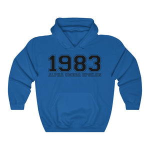 Alpha Omega Epsilon Founding Year Hoodie (Royal)