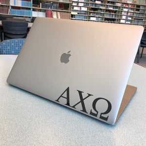 Alpha Chi Omega Greek Letter Decal