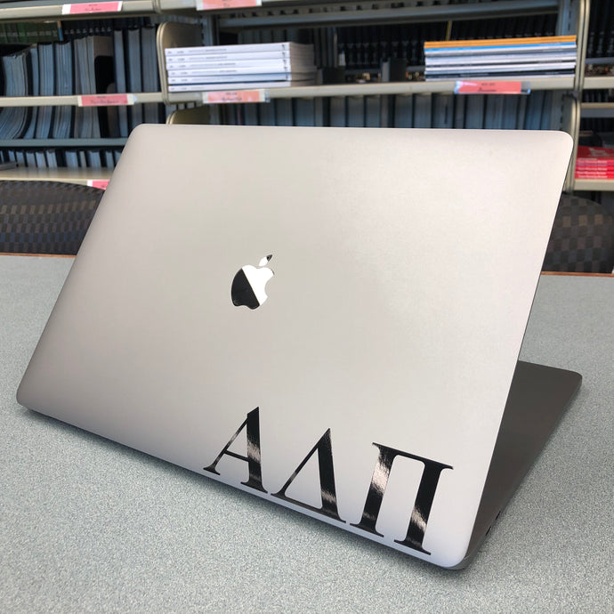 Alpha Delta Pi Official Greek Letter Decal (Black)