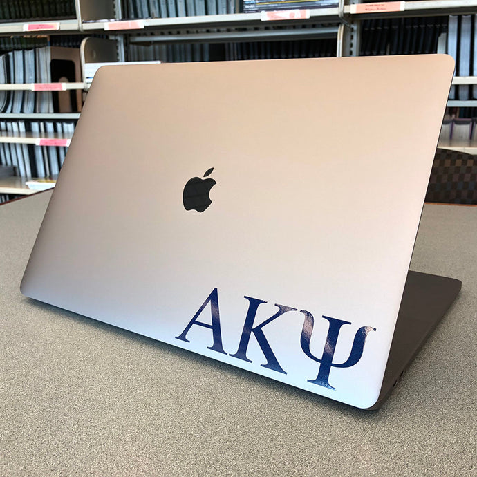 Alpha Kappa Psi Greek Letter Decal (Blue)