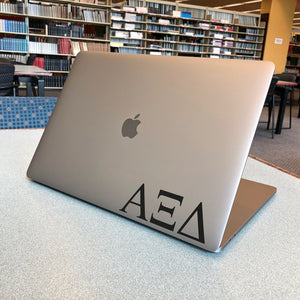Alpha Xi Delta Greek Letter Decal (Black)