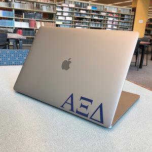 Alpha Xi Delta Greek Letter Decal (Blue)