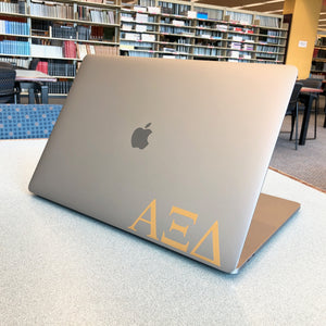 Alpha Xi Delta Greek Letter Decal (Gold)