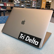 "Load image into Gallery viewer, Delta Delta Delta ""Tri Delta"" Box Logo Decal"