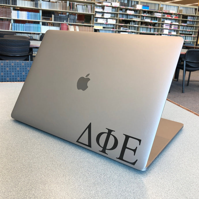 Delta Phi Epsilon Greek Letter Decal