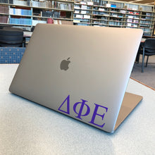 Load image into Gallery viewer, Delta Phi Epsilon Greek Letter Decal