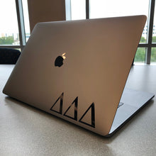 Load image into Gallery viewer, Delta Delta Delta laptop decal in gloss black