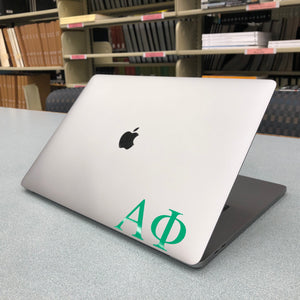 Alpha Phi Greek Letter Decal (Green)