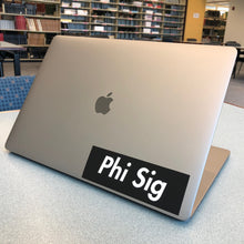 "Load image into Gallery viewer, Phi Sigma Sigma ""Phi Sig"" Box Logo Decal"