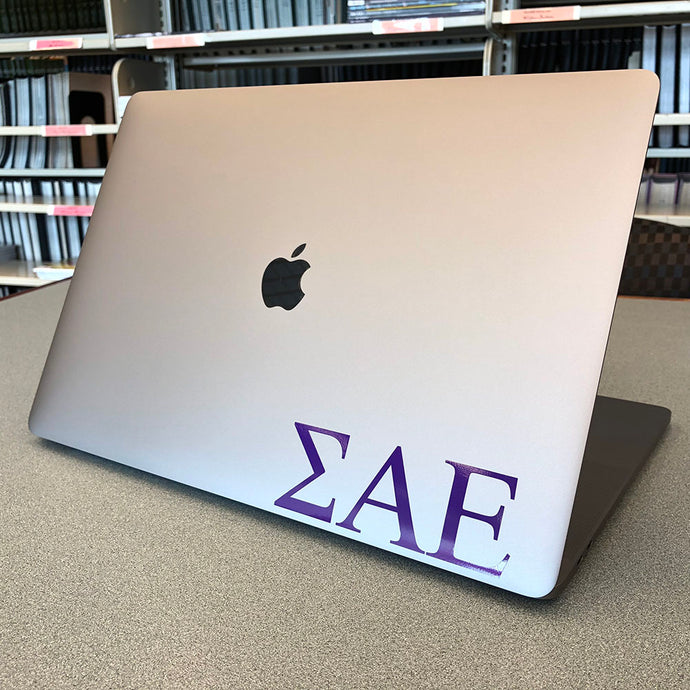 Sigma Alpha Epsilon Greek Letter Decal