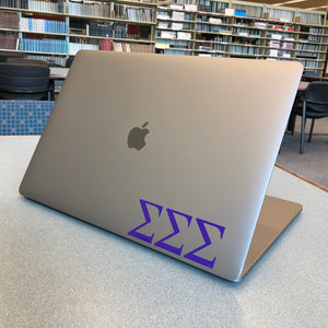 Sigma Sigma Sigma Greek Letter Decal