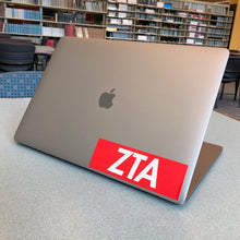 "Load image into Gallery viewer, Zeta Tau Alpha ""ZTA"" Box Logo Decal"