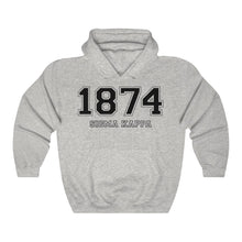Load image into Gallery viewer, Sigma Kappa Founding Year Hoodie (Ash Grey)