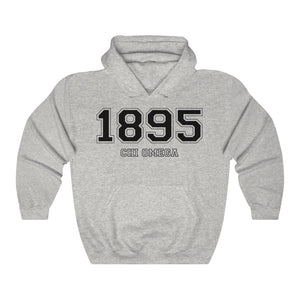 Chi Omega Founding Year Hoodie (Ash Grey)