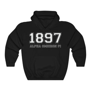 Alpha Omicron Pi Founding Year Hoodie (Black)