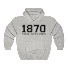 Load image into Gallery viewer, Kappa Alpha Theta Founding Year Hoodie (Ash Grey)