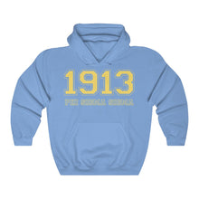Load image into Gallery viewer, Phi Sigma Sigma Founding Year Hoodie (Carolina Blue)